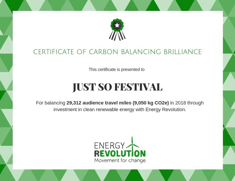 Energy Revolution certificate