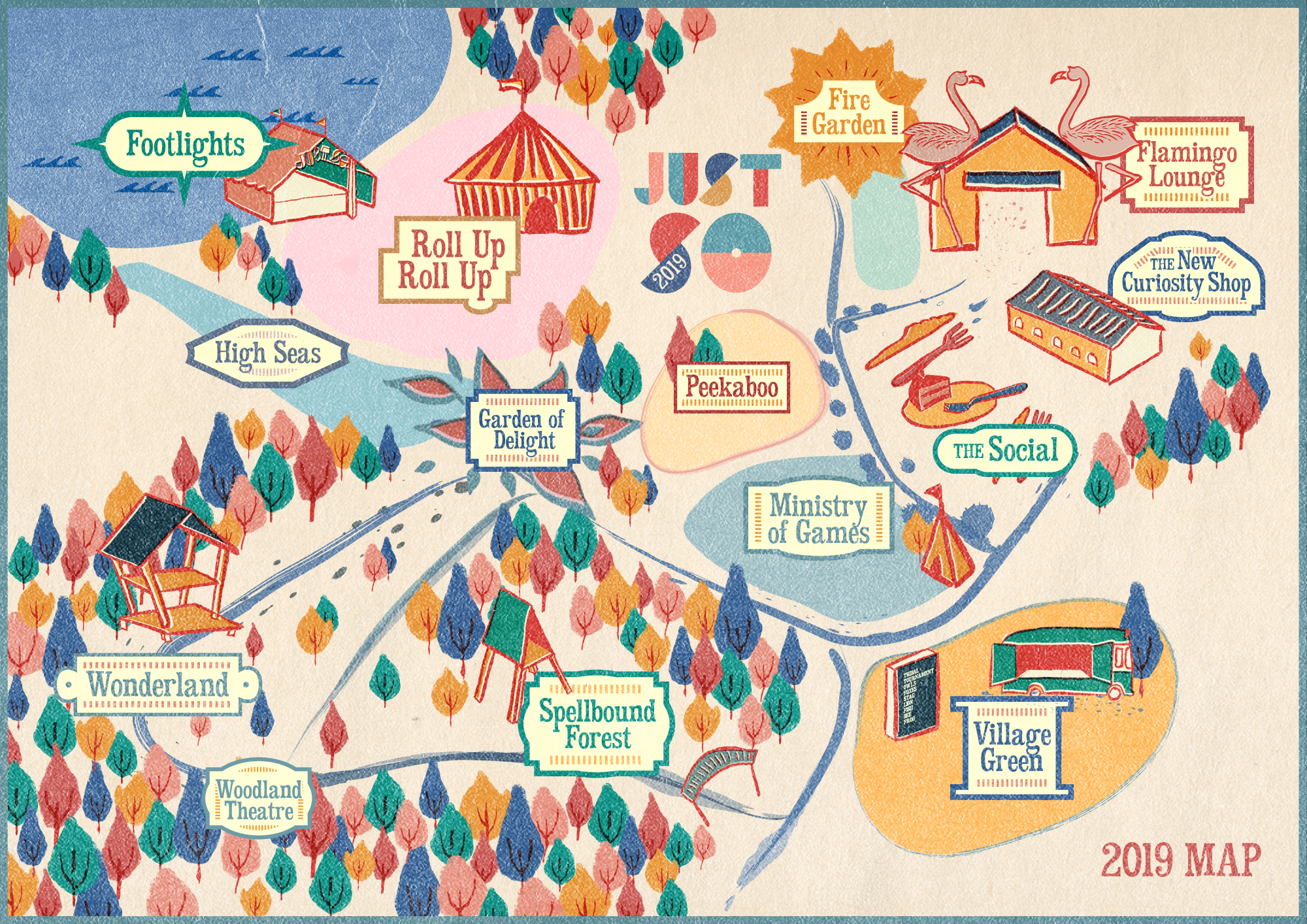 Just So Festival - 2019 Map